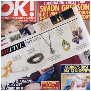 OK Magazine features Birthstone Necklaces
