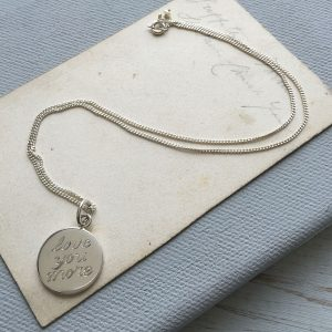 Engraved Love You More Necklace