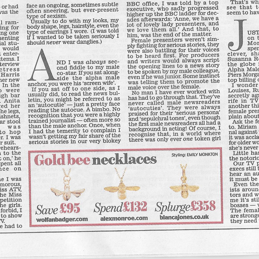 Daily Mail splurge on Bumble Bee Pendant