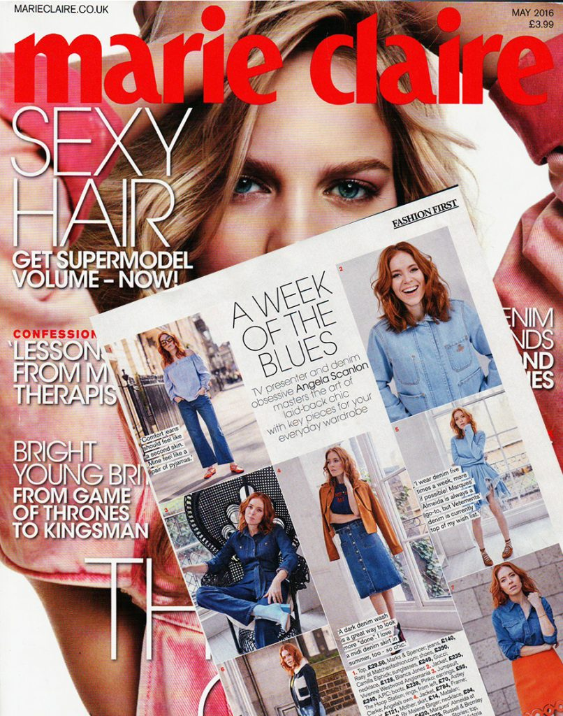 Marie Claire featuring Angela Scanlon
