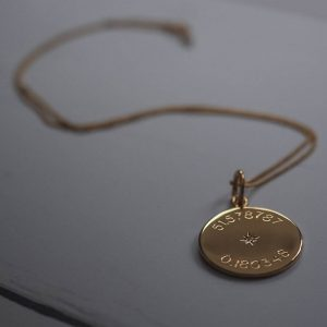 Diamond Latitude and Longitude Necklace