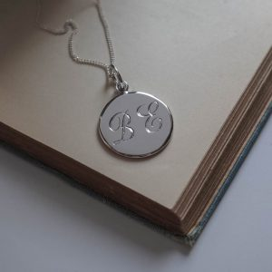Double Initial Necklace in Sterling Silver by Bianca Jones Jewellery