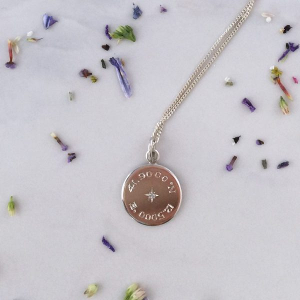 Latitude and Longitude Necklace