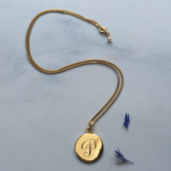 P initial in Yellow Gold