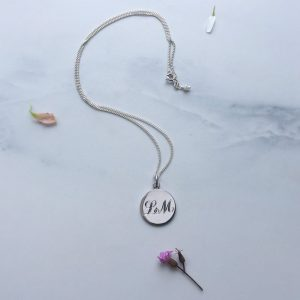 Double Initial Necklace in Silver