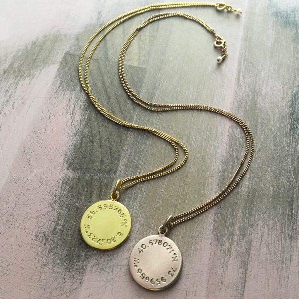 Latitude & Longitude Necklace