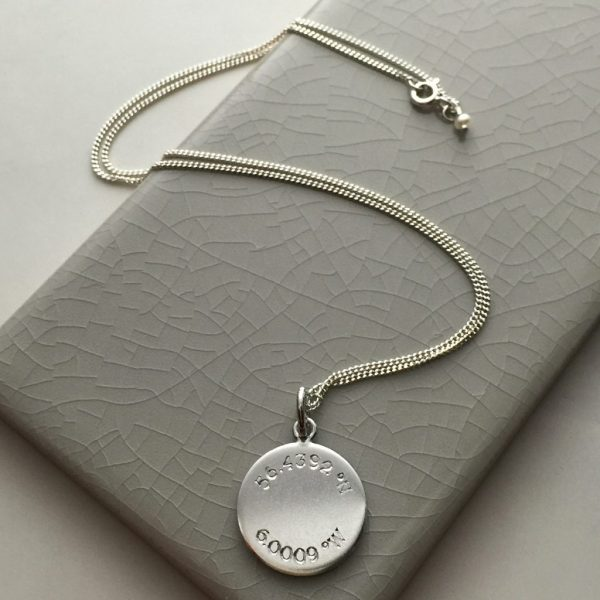 Latitude & Longitude Necklace in Sterling Silver