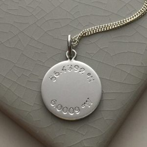 Latitude and Longitude Necklace in Sterling Silver