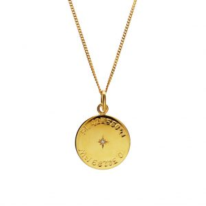 Birthstone Latitude and Longitude Necklace