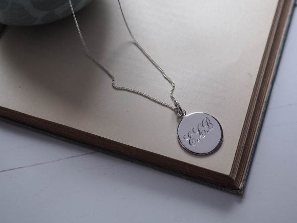 Triple Initial Necklace in Sterling Silver from Bianca Jones Jewellery