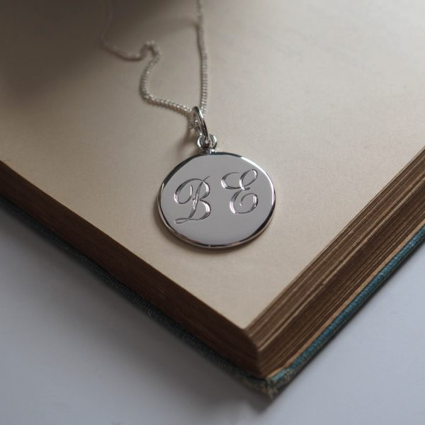 Double Initial Necklace in Sterling Silver from Bianca Jones Jewellery