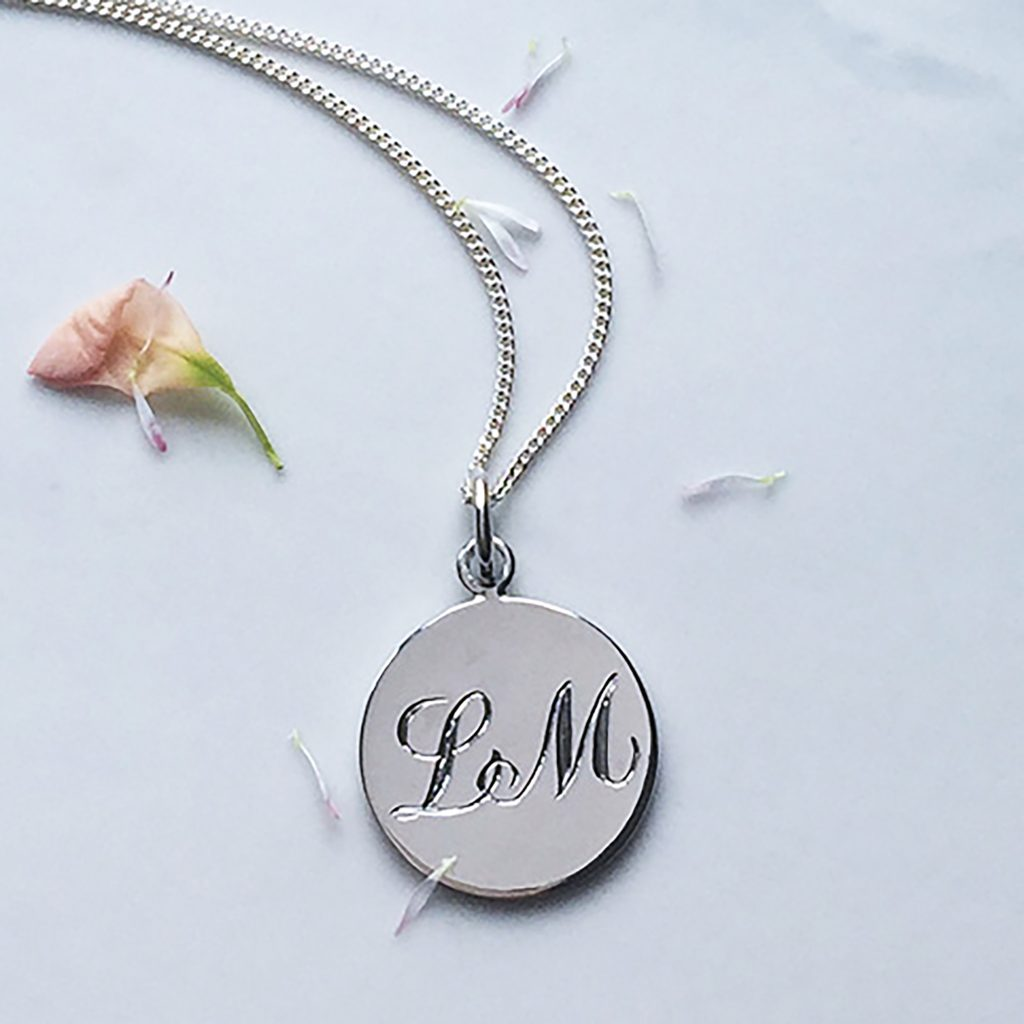 Double Initial Necklace in Sterling Silver