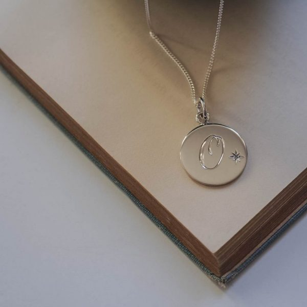 Alexandrite Initial Necklace