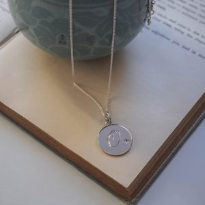 Alexandrite Initial Necklace in Sterling Silver bay Bianca Jones Jewellery