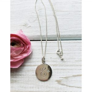 December Birthstone Initial Necklace Sterling Silver Bianca Jones