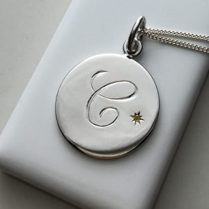 November Birthstone Necklace in Sterling Silver