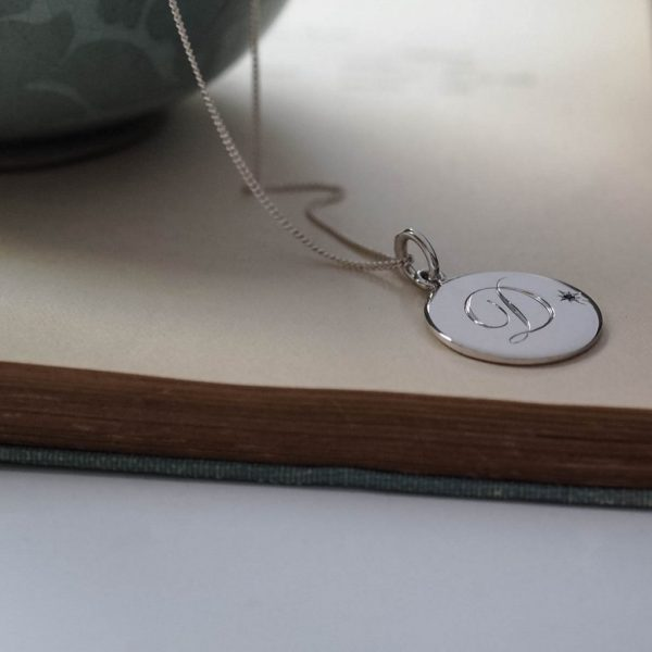 Sapphire Initial Necklace