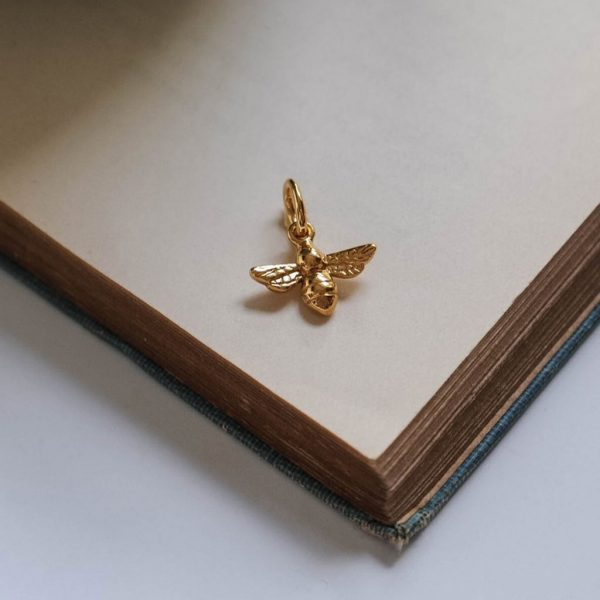 Bee Charm Gold Vermeil