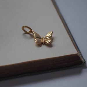 Butterfly Charm Gold Vermeil