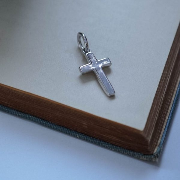 Cross Charm Silver