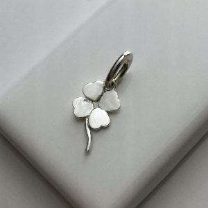 Four Leaf Clover Charm in Sterling Silver