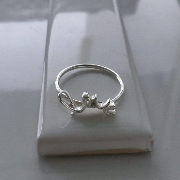 Love Ring in Sterling Silver