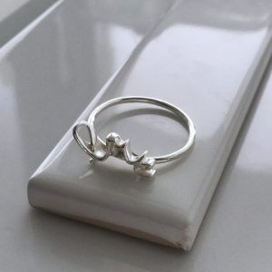 Love Ring in Sterling Silver