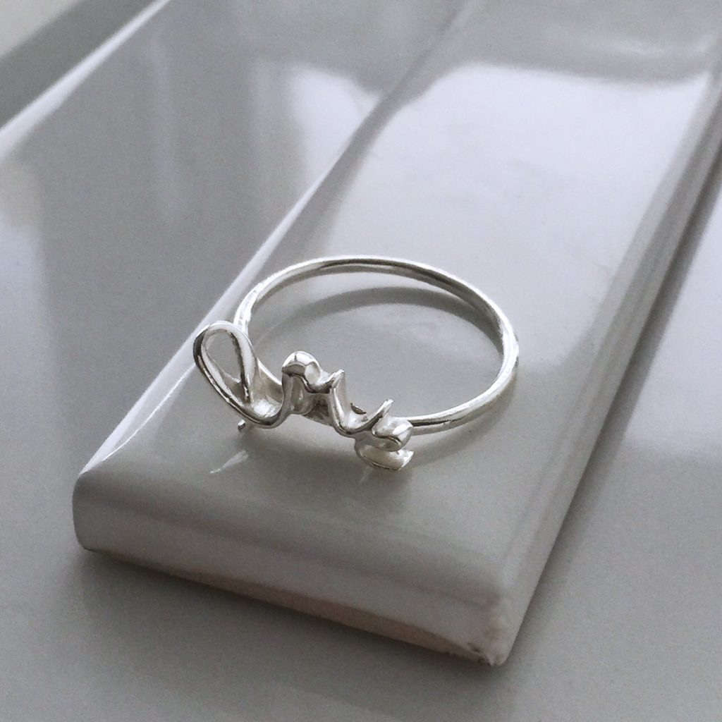Love Silvers: Love Ring In Silver Or Gold Vermeil
