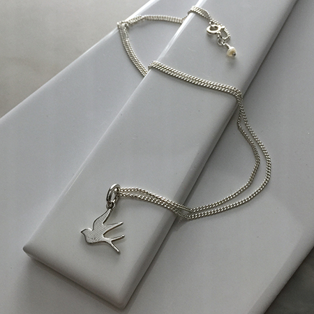 Swallow Necklace in Sterling Silver