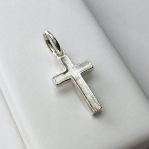 Cross Charm in Sterling Silver
