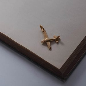 Airplane Charm in Gold Vermeil