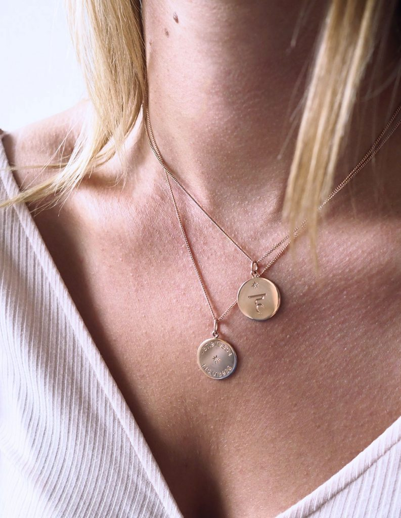 Rose Gold Necklaces Latitude and Chakra
