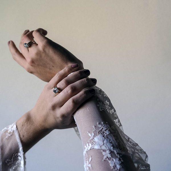Aquamarine Ring in Gold by Bianca Jones
