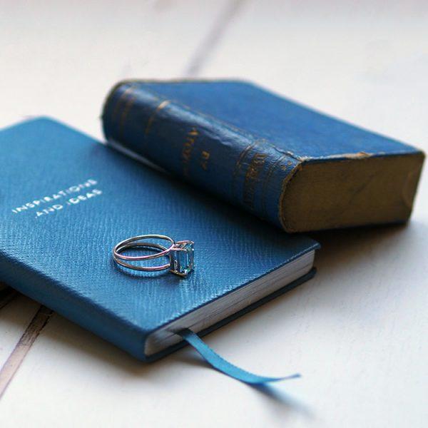 Aquamarine Ring in White Gold by Bianca Jones Jewellery