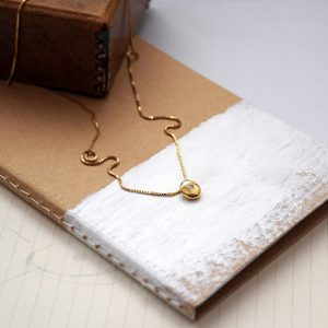 Birthstone Comfort Necklace in Gold by Bianca Jones Jewellery