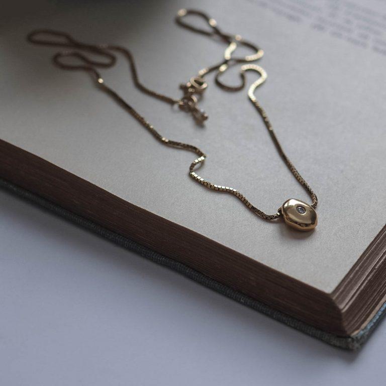 Birthstone Comfort Necklace in Gold by Bianca Jones Jewellery
