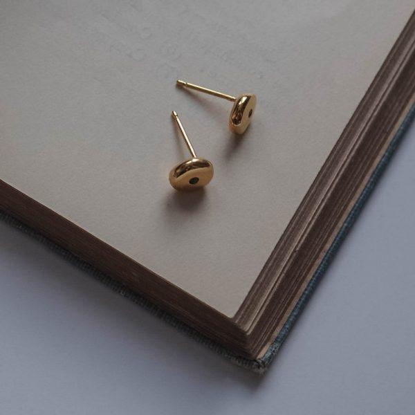 Birthstone Comfort Earrings in Gold Vermeil by Bianca Jones Jewellery