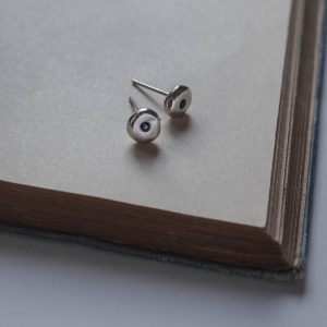 Birthstone Comfort Earrings in Sterling Silver by Bianca Jones Jewellery