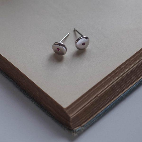 Birthstone Comfort Earrings in Sterling Silver by Bianca Jones Jewellery
