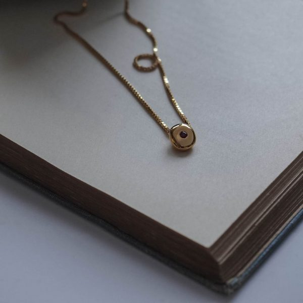 Birthstone Comfort Necklace in Gold Vermeil by Bianca Jones Jewellery