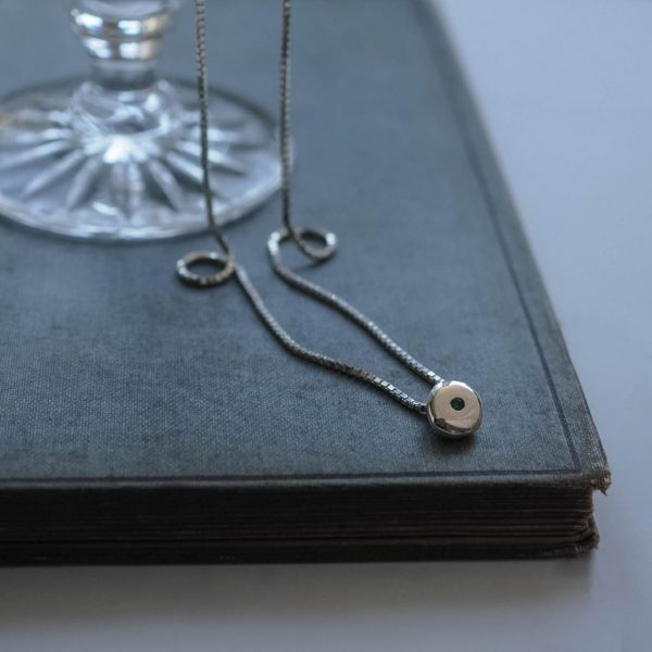 Birthstone Comfort Necklace in Silver