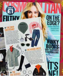 Cosmopolitan Magazine featuring Latitude and Longitude Necklace