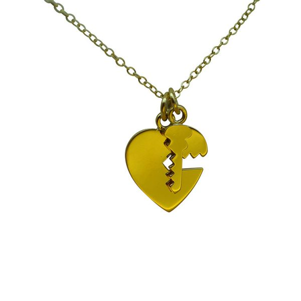 Key Heart Necklace by Bianca Jones Jewellery