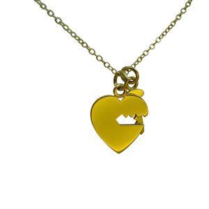 Key Heart Necklace by Bianca Jones Jewellery