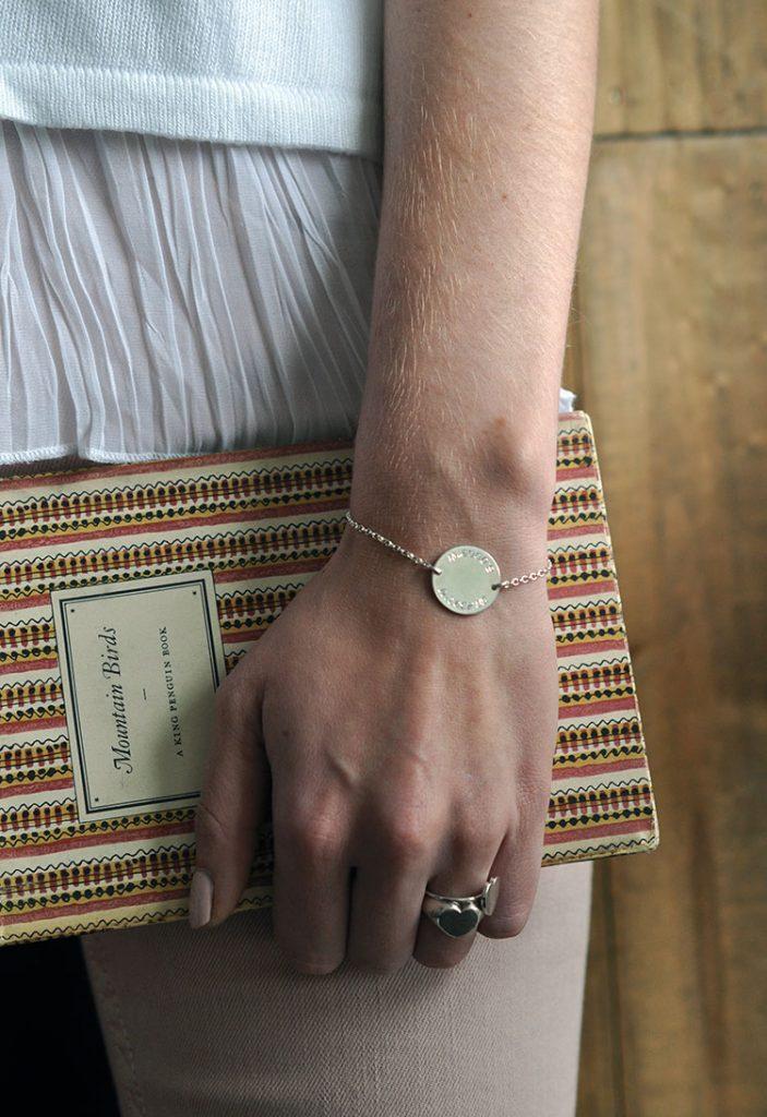 Latitude and Longitude Bracelet in Silver