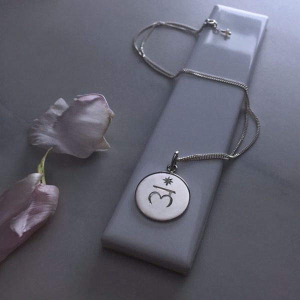 Root Seventh Charka Birthstone Necklace in Sterling Silver by Bianca Jones Jewellery