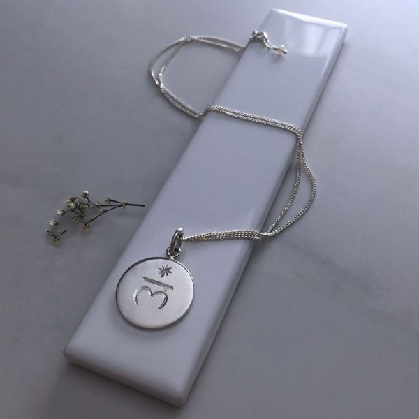 Root Charka Birthstone Necklace in Silver