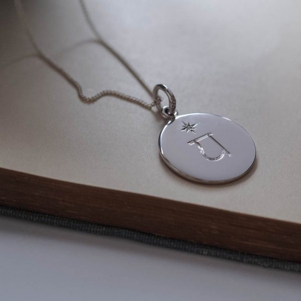 Heart Chakra Birthstone Necklace in Sterling Silver by Bianca Jones Jewellery