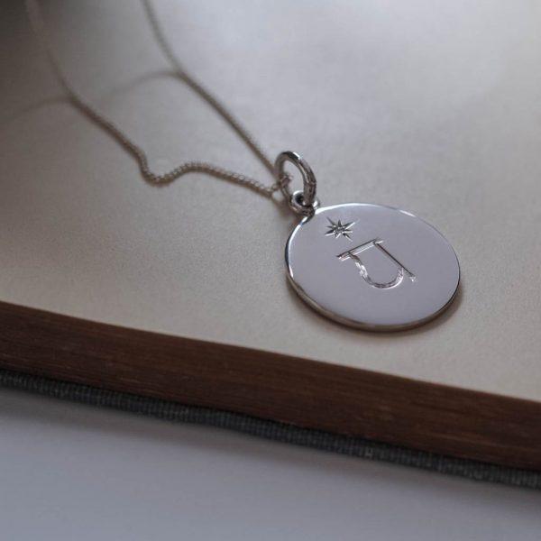 Heart Chakra Birthstone Necklace in Sterling Silver by Bianca Jones Jewellery