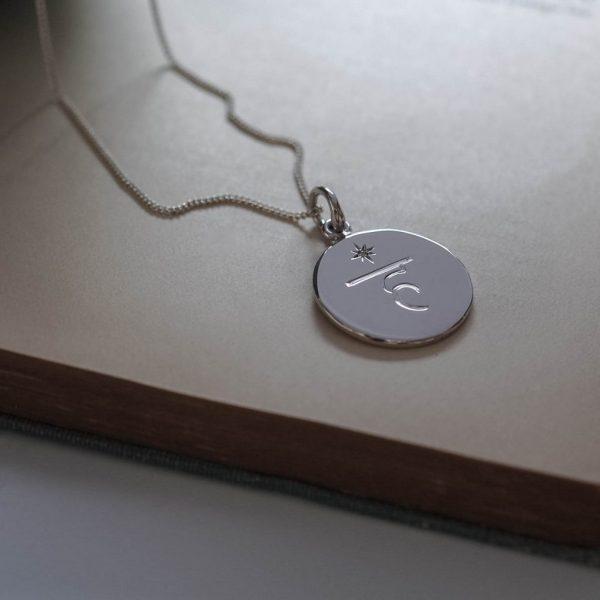 Throat Charka Birthstone Necklace in Sterling Silver by Bianca Jones Jewellery